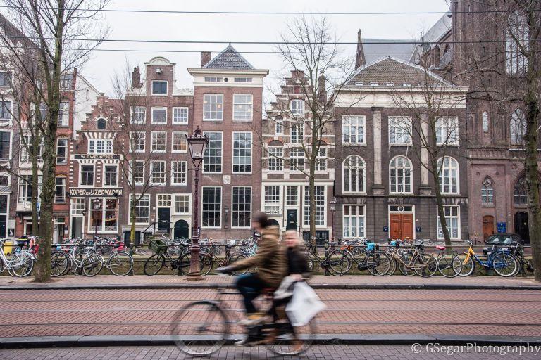 Amsterdam - building facades bike