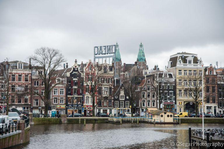 Amsterdam - building facades canal
