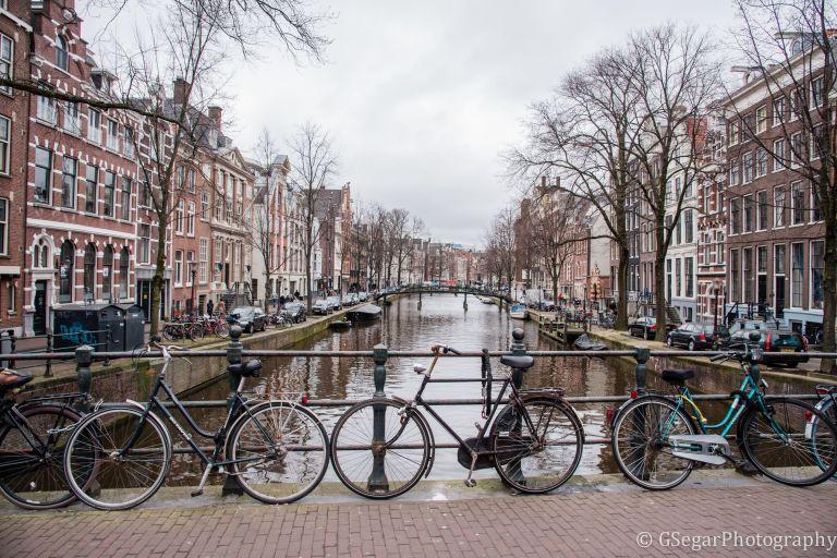 Amsterdam - canal bikes