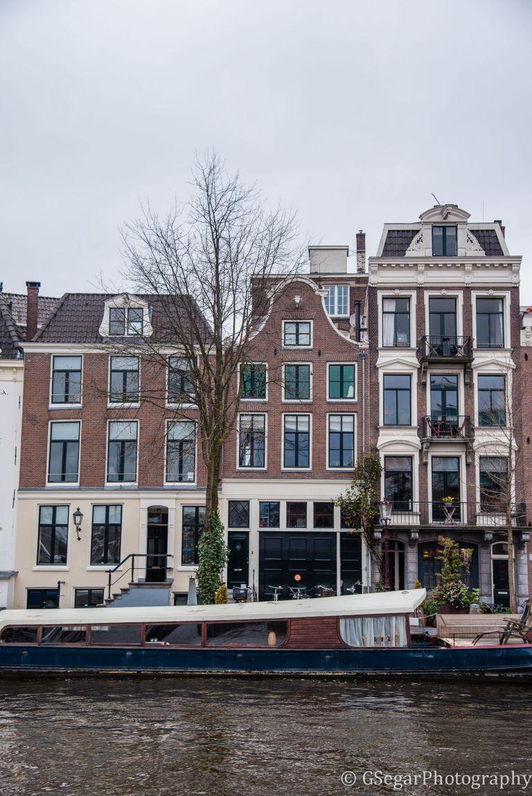 Amsterdam - facade canal houseboat